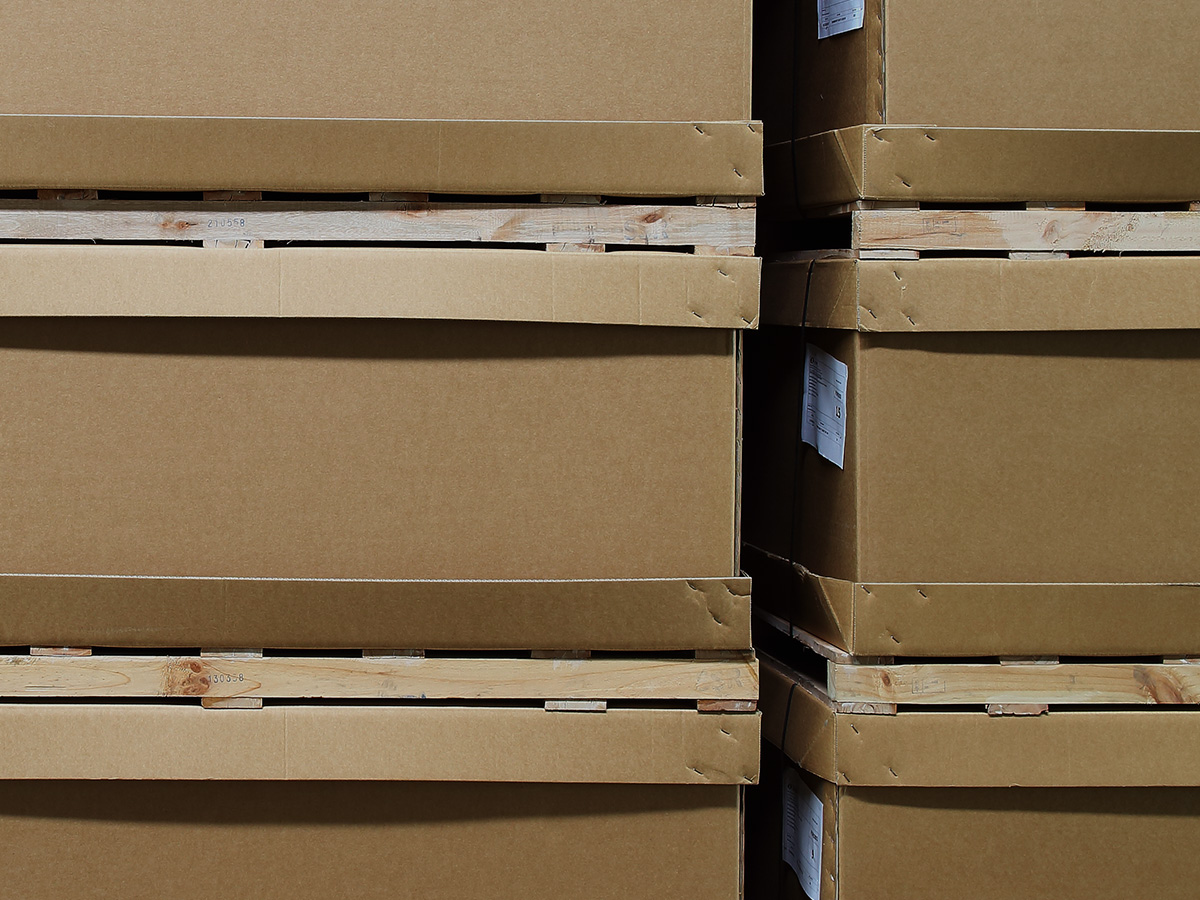 Stacking pallets saved on delivery